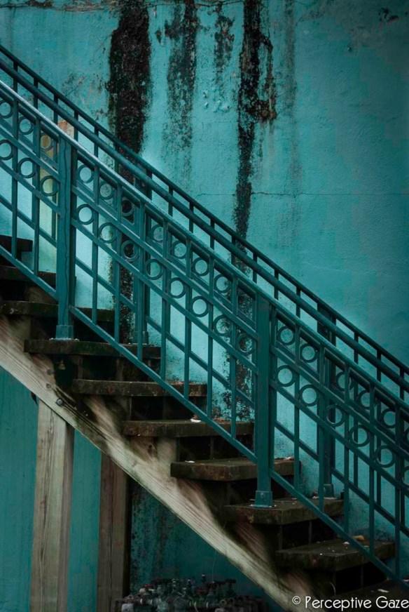 TurquoiseStairwellPhotograph